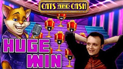 HUGE BONUS BIG WIN - 1-Line Cats and Cash!!