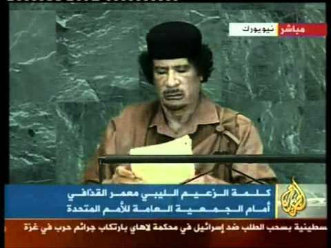 Gadaffi: el capitalismo esta destruyendo al hombre y al planeta