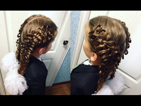 ПЛЕТЕНИЕ. Плетение кос Бантиками. Бантики из волос. LOZNITSA