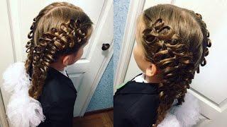 Смотреть видео плетение бантиков из волос