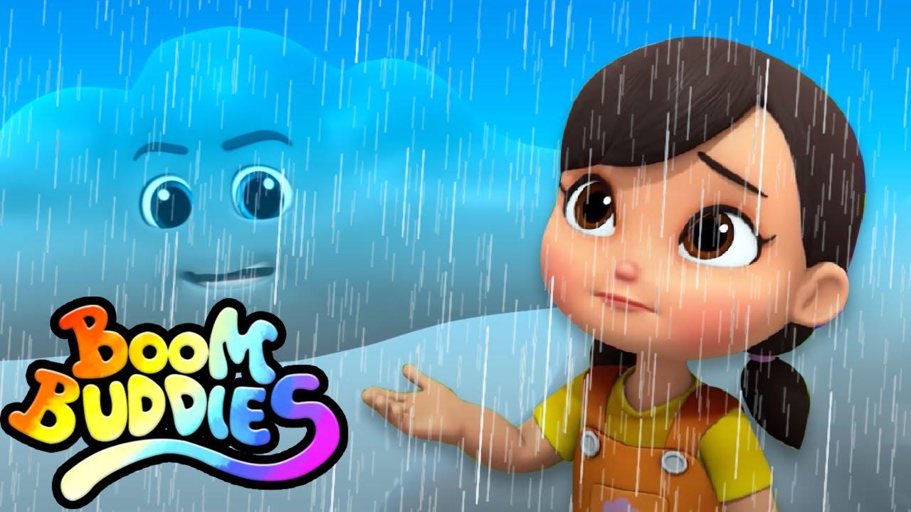 lluvia lluvia vete | Poemas para niños | Boom Buddies Español | Canciones infantiles