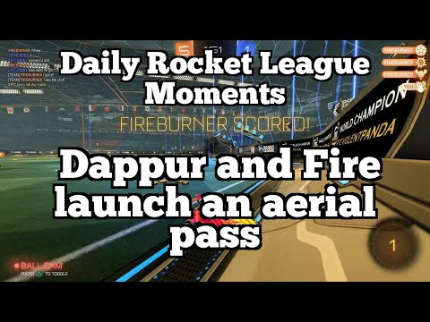 Daily Rocket League Moments: Dappur and Fire launch an aerial pass