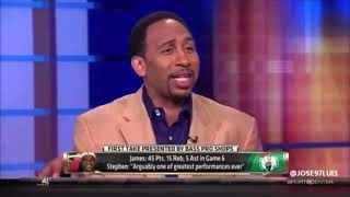 Skip Bayless and Stephen A. Smith react to LeBron James 45 points Game 6 vs Celtics