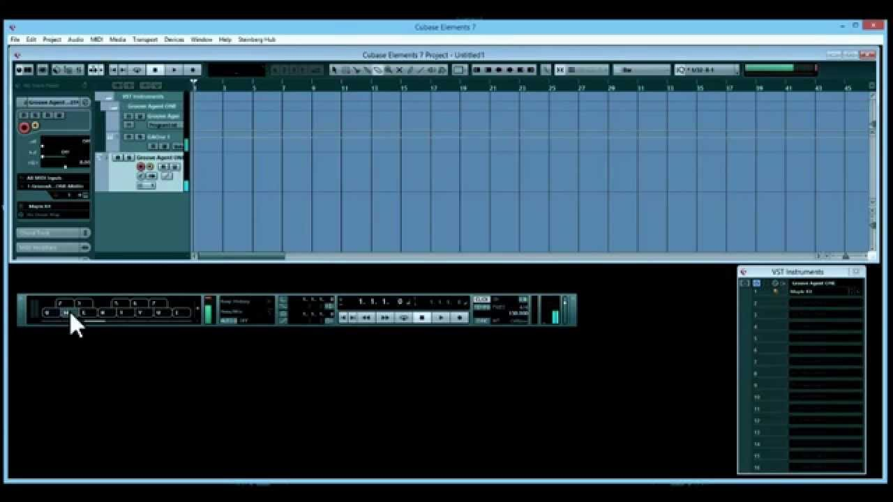 cubase elements 7 setting up groove agent one youtube. Black Bedroom Furniture Sets. Home Design Ideas
