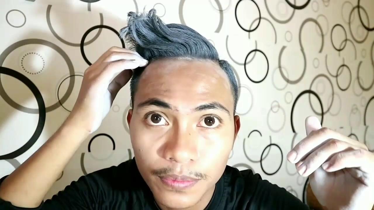 Tutorial Cat Rambut Abu Abu Sendiri Tanpa Bleaching Gray Hair Colour Tidak Permanen Bahasa Youtube