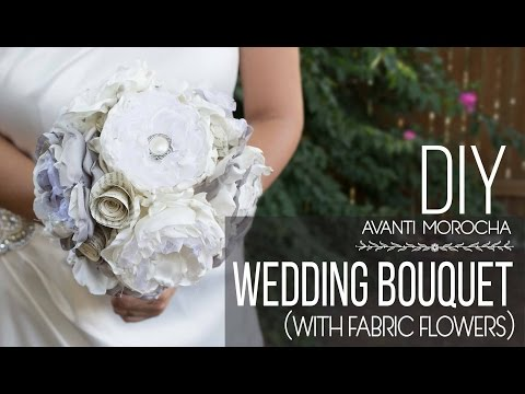 diy-wedding-bouquet-with-fabric-flower-/-bouquet-de-novia
