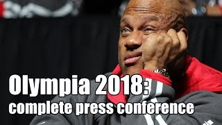 Mr. Olympia 2018: complete press conference in HD
