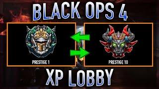 SUPER EASY XP Lobby Glitch Rank Up Fast Call of duty Black Ops 4 XP Glitch