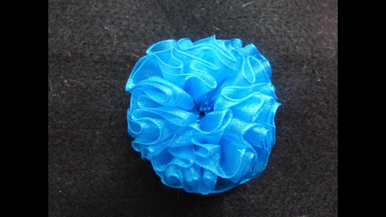 Como hacer flor de organza f cil how to make organza - Como hacer flores ...