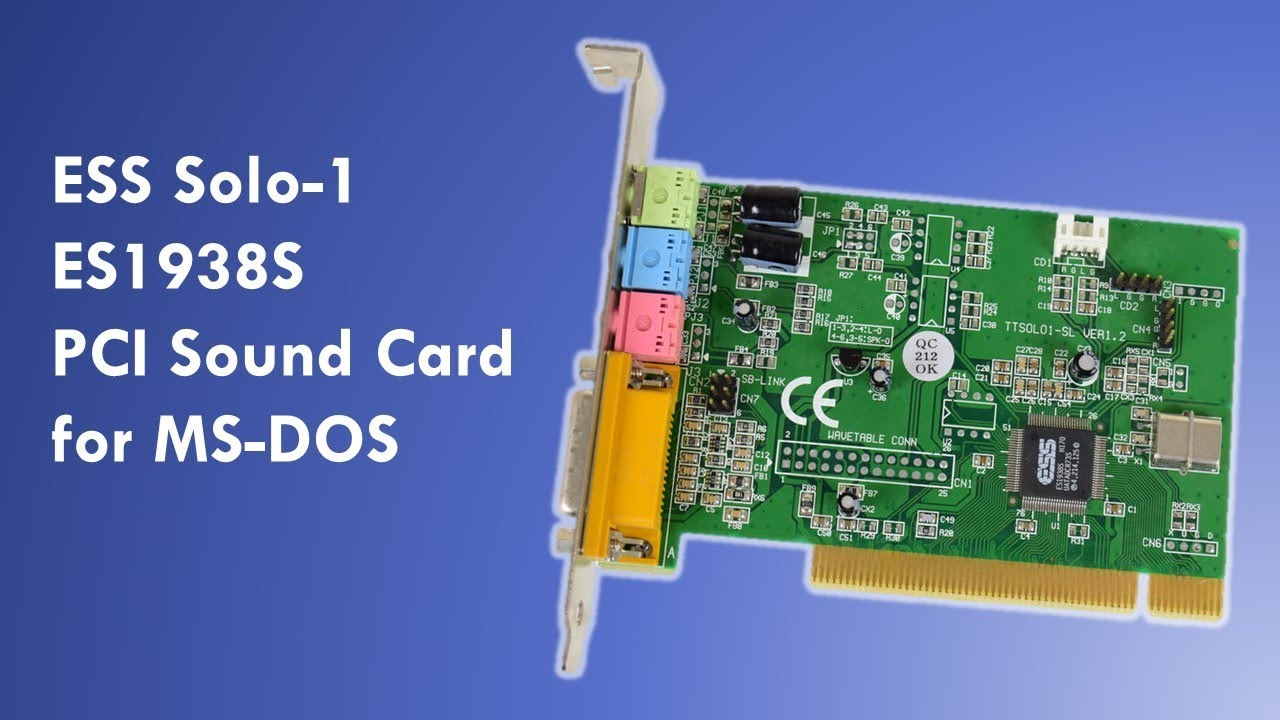 4-CHANNEL ES1938S PCI SOUND CARD DRIVERS FOR WINDOWS 10