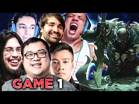 TCS TOURNAMENT GAME #1 (Scarra on Pyke POV) w/ Imaqtpie, Nightblue3, Shiphtur & Voyboy