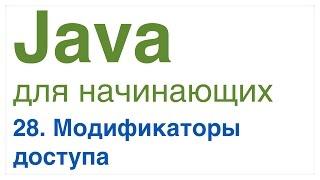 Java для начинающих. Урок 28: Модификаторы доступа public, private, protected и default