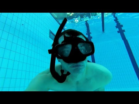 How to use a snorkel for diving down underwater