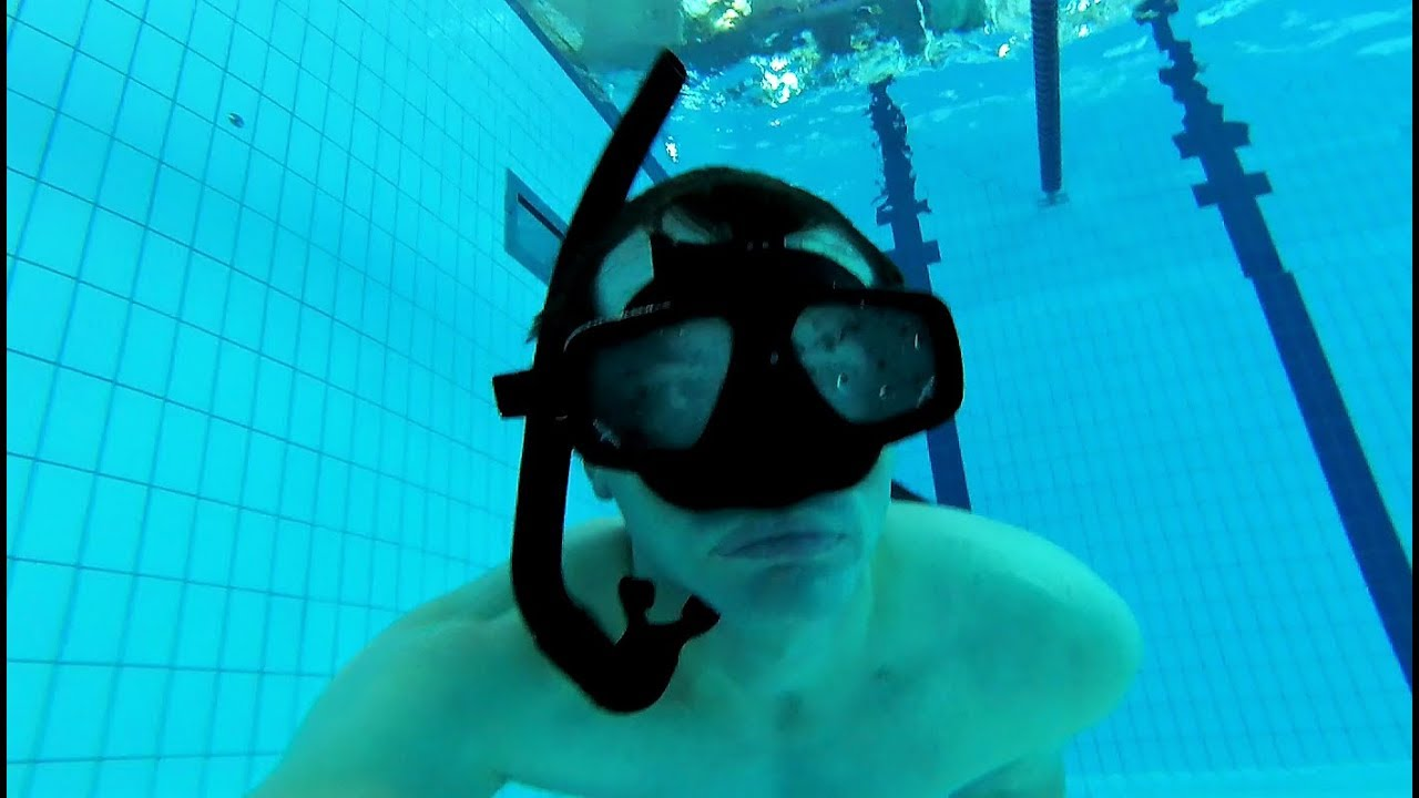 how to use a snorkel for diving down underwater youtube