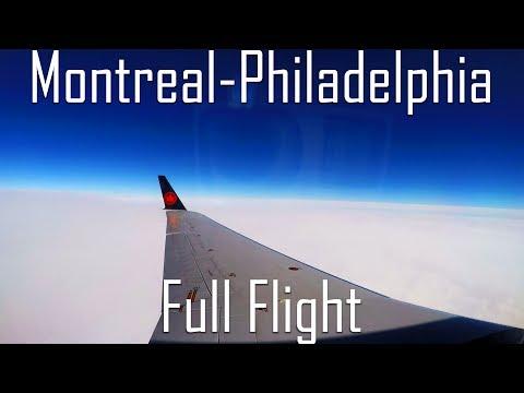 FULL FLIGHT | Montreal To Philadelphia | CRJ-200 | Air Canada (Jazz) | AC8030