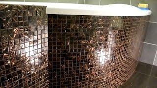 Экран под ванну из мозаики и скрытых люков ч 3 (результат)