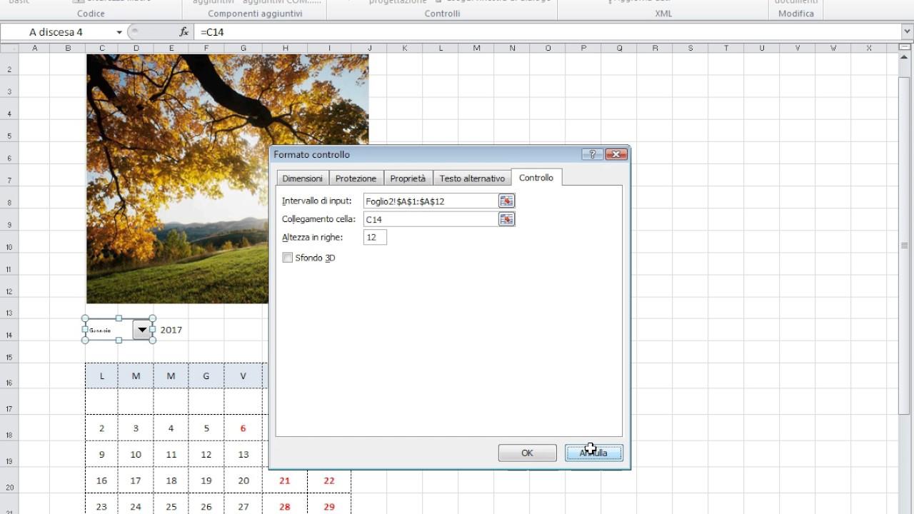 Calendario Con Excel.Calendario Con Immagini Excel