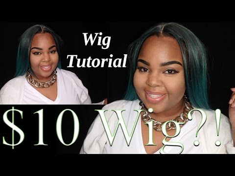 $10 GREEN Wig?! | Slay From Start To Finish | TWA | How To Blend Wig With Short Natural Hair