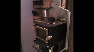 Cubic Mini Wood Stove installation