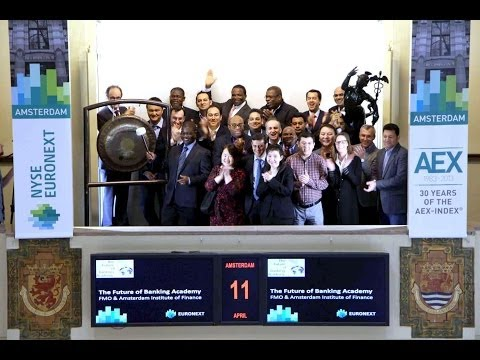 FMO and Amsterdam Institute of Finance sound gong for The Future of Banking Academy