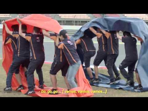 Dani Pedrosa y su equipo, a la carrera en el #DesafíoRepsol5