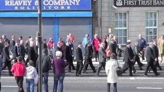 Formation of the UVF 100th Anniversary Centenary Parade - Carrickfergus 2013