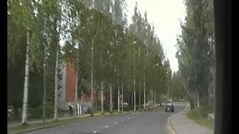 Driving in the citypart of Neulamäki, Kuopio, Finland.MP4