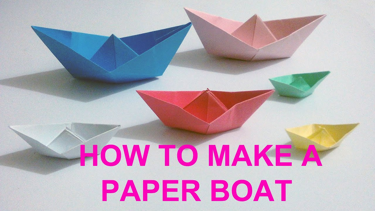 Making a simple boat out of paper with children 77