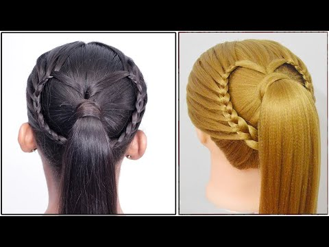 Flower Hairstyle & Heart Hairstyles | Easy Braid Hairstyle Tutorial 2019 | Hairstyle Transformations thumbnail