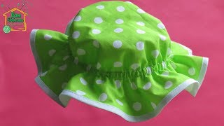 Как сделать детскую летнюю шляпу на резинке от 6 мес до 6 лет / Пляжная шапка