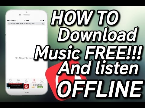 How to download music free and listen to music without data or wifi No jailbreak no computer!