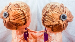 Прически на длинные волосы детские прически прическа бабочка hairstyles hair быстрые Заитова Елена