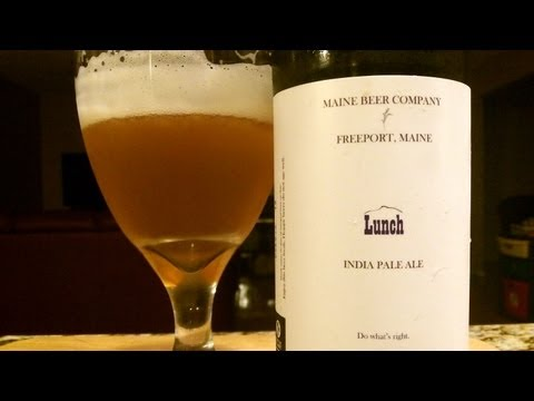 Maine Beer Company Lunch IPA  ((SUPER FRESH)) DJs BrewTube Beer Review #331