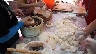 Taiwanese Breakfast - Leek Bun, Sesame Flat Bun with Deep-fried Chinese Doughnut Stick, Soy Milk