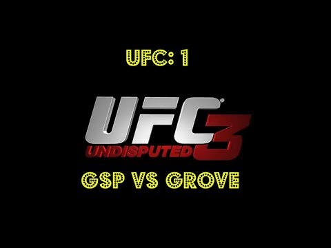 """UFC 1 St.Pierre vs Grove """"My First Recorded Fight"""""""
