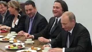 Встреча Путина с коллективом 1 канала 1\3