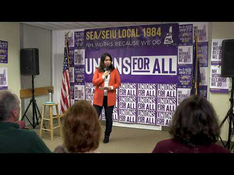 Tulsi Gabbard joins SEA members for a town hall
