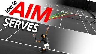 How to AIM Your Serve (spin serve placement lesson)