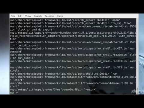 20 Metasploit Database KaliLinux