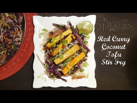 Red Curry Coconut Tofu Stir Fry Recipe