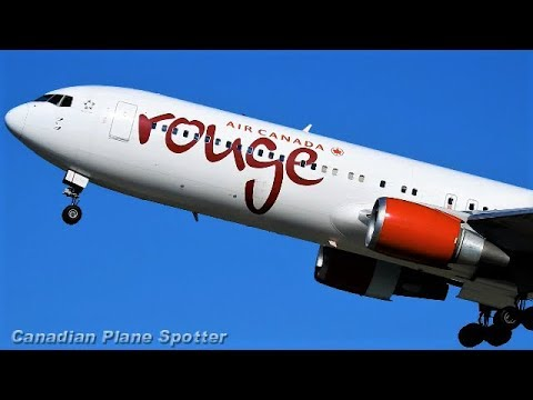 Rouge 767-300 in Action at Montreal-Trudeau Int'l Airport