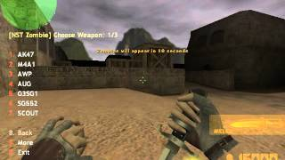 Counter Strike Xtreme V6 Zombie mode 3 Gameplay