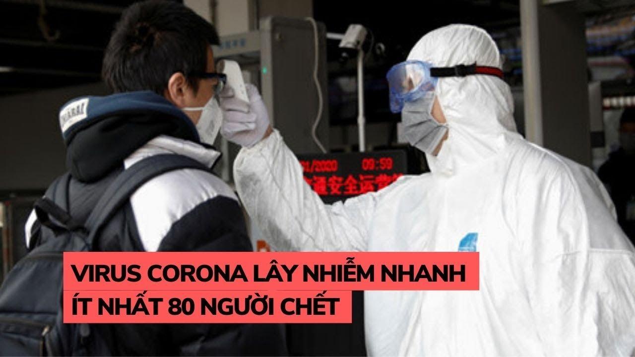 Vi rút corona gây viêm phổi Vũ Hán có thể lây nhiễm mạnh, ít nhất 80 người tử vong