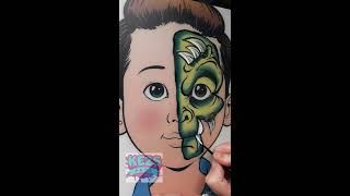 Green Monster -Kezs Face Painting