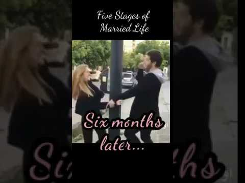 Die fünf Stufen im Laufe einer Ehe