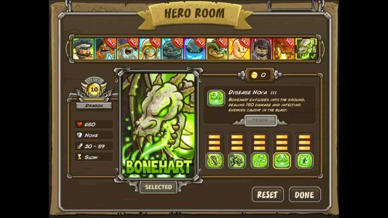 New Awesome Hero - Bonehart Dragon - Kingdom Rush Frontiers