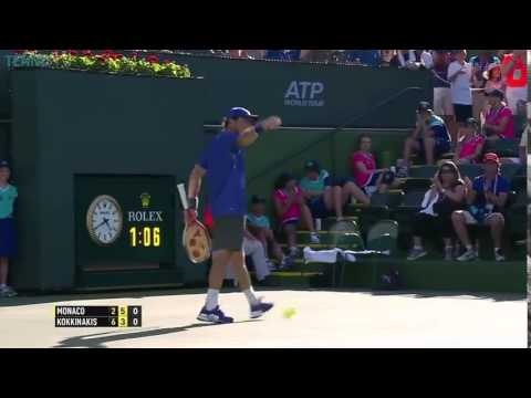 Juan Monaco Hits Incredible Winner V Thanasi Kokkinakis - BNP Paribas Open 2015
