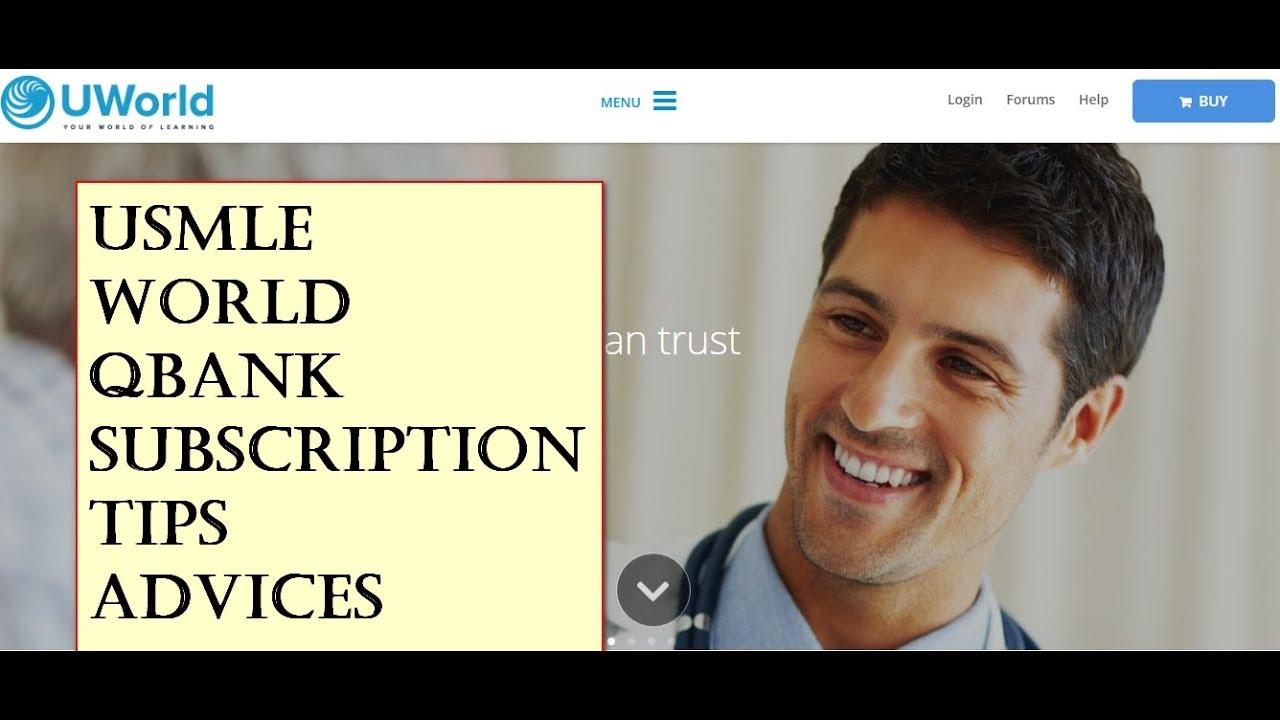 Usmle Uworld Qbank subscription