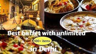 Best buffet in Delhi    Budget buffet    food vlog    Indian food vlog   Exploring Delhi food