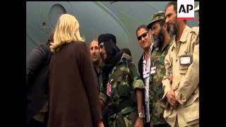 U.S. Secretary of State Hillary Rodham Clinton is offering new assistance to Libya's provisional lea